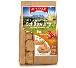 Mini Schüttelbrot with chili 125g