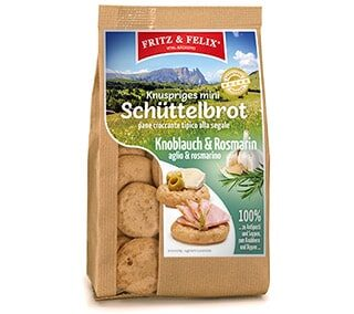 Mini Schüttelbrot with garlic 125g
