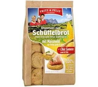 Mini Schüttelbrot con farina di mais e semi di chia