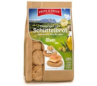 Mini Schüttelbrot with olives 125g