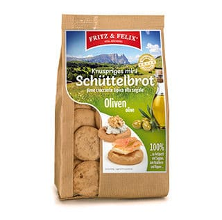 Mini Schüttelbrot con olive 125g
