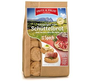 Mini Schüttelbrot with bacon 125g