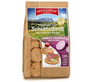 Mini Schüttelbrot con cipolla e erba cipollina