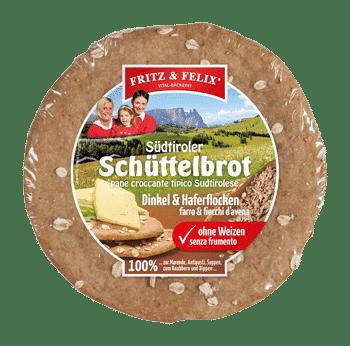 Schüttelbrot con farro e fiocchi d'avena