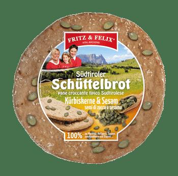 Schüttelbrot con semi di zucca e sesamo