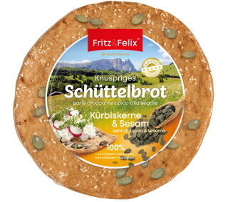 Schüttelbrot with pumpkin seeds and sesame 150g