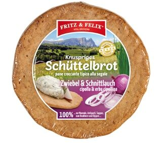 Schüttelbrot con cipolla & erba cipollina 150g