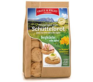 Mini Schüttelbrot con Erbe Alpine del Sudtirolo 125g