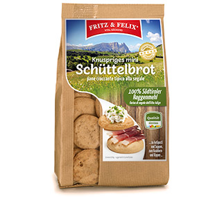 Mini Schüttelbrot Original with South Tyrolean rye flour 125g