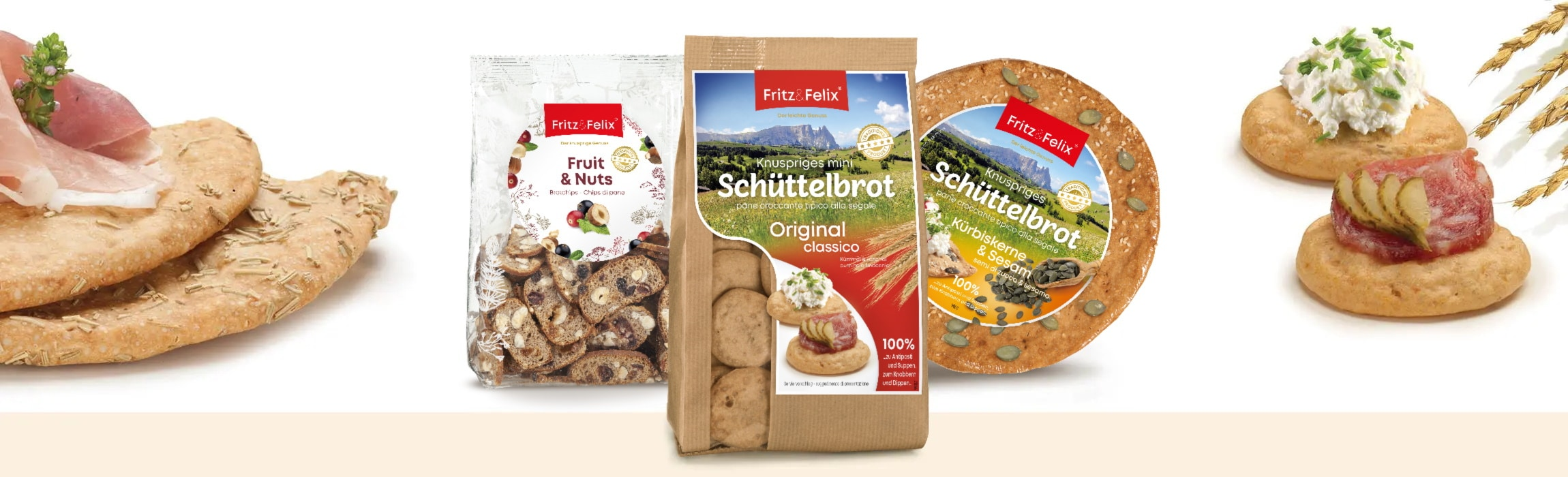 Fritz und Felix Produktsortiment